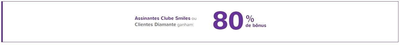 Ganhe 80% de bônus transferindo seus pontos para o Smiles!