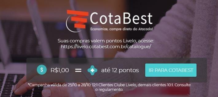 Livelo oferece até 12 pontos por real gasto no site da CotaBest