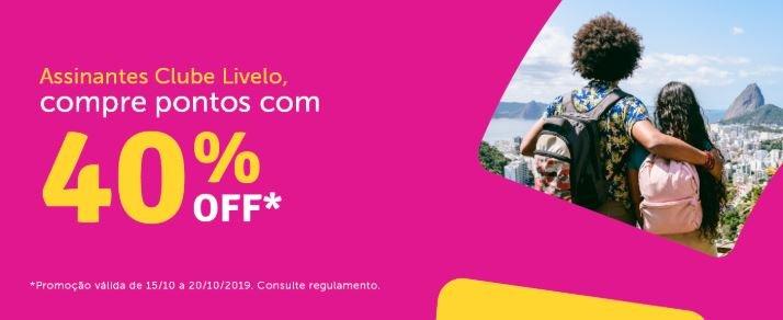 Livelo oferece até 40% de desconto na compra de pontos