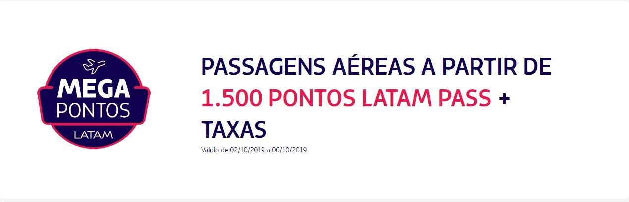 Latam Pass: Passagens aéreas a partir de 1.500 pontos + taxas