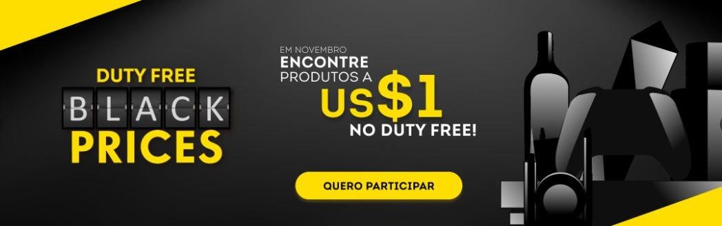 Duty Free Black Prices: Encontre produtos a US$1 durante o mês de novembro!