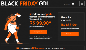Gol lança campanha Black Friday