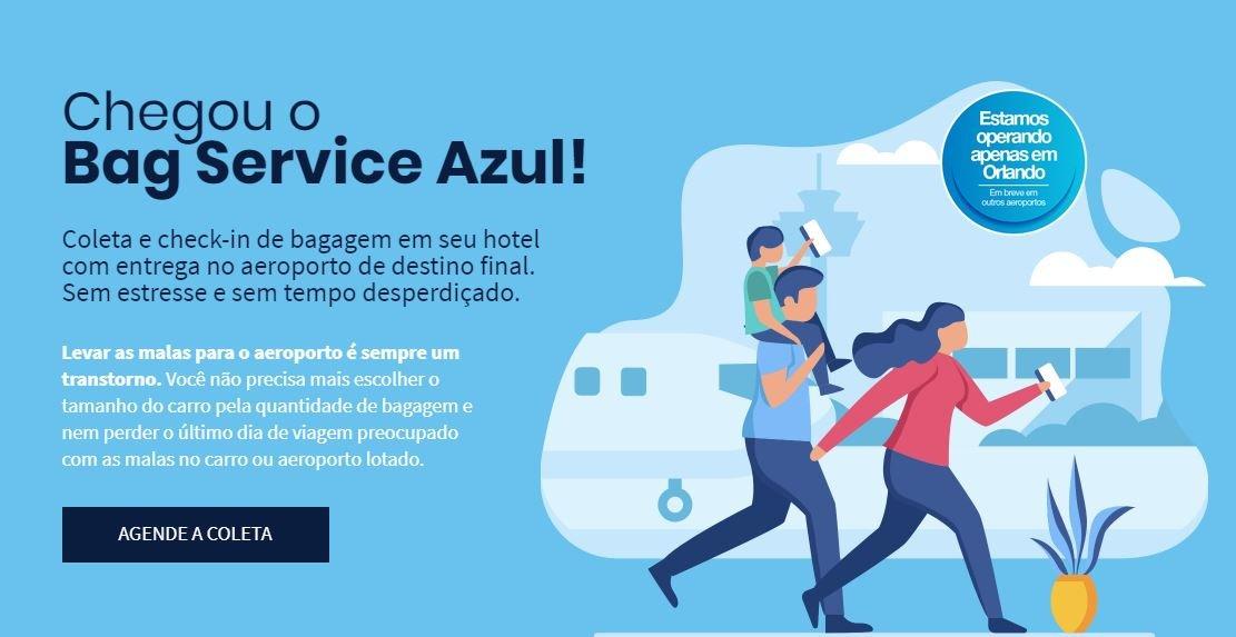 Azul e D2 Airport fecham parceria para serviço inédito de despacho de bagagem