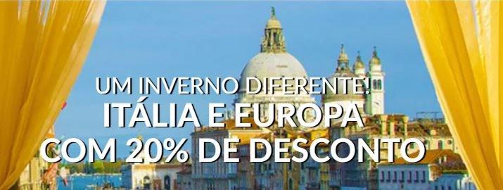 Alitalia oferece 20% de desconto em passagens para Europa!