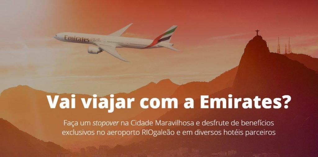 Emirates oferece parada gratuita no Rio de Janeiro