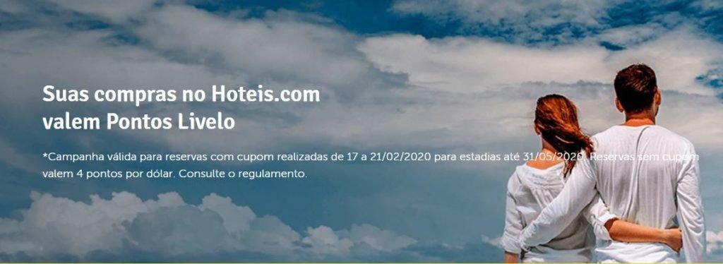 Livelo e Hoteis.com: Ganhe até 25 pontos por dólar gasto!
