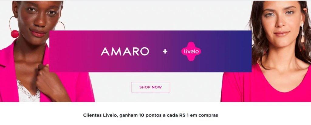Livelo oferece 10 pontos por real gasto na Amaro