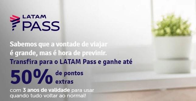 Livelo: Transfira seus pontos para o Latam Pass e ganhe até 50% de pontos extras
