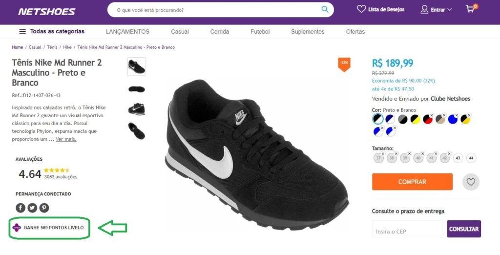 Livelo oferece 6 pontos por real gasto na Netshoes
