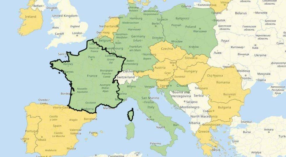 Comissão Europeia lança mapa informando sobre as restrições de viagens de cada país