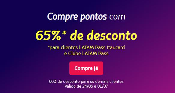 Latam Pass: Ganhe até 65% de desconto na compra de pontos