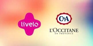 Livelo lança ofertas de 6 pontos por real gasto na C&A e 5 pontos por real na L'Occitane